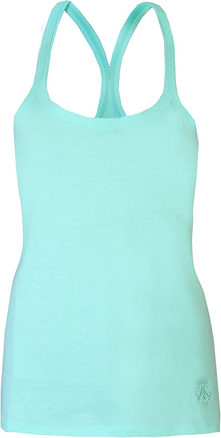 Womens Plain Vests Muscle Back Summer Beach Tops Cotton Gym Dance Brody /& Co