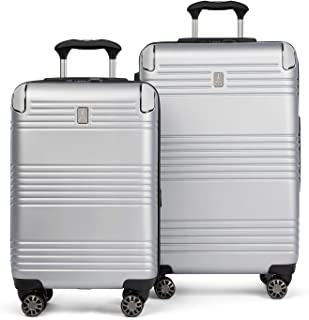 Travelpro Roundtrip Hardside Expandable Spinner Luggage, Silver, 2-Piece Set (20/25)