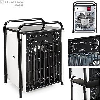 TROTEC TDS 75 - Calefactor eléctrico con 4 etapas, desde 5 kW hasta 15 kW