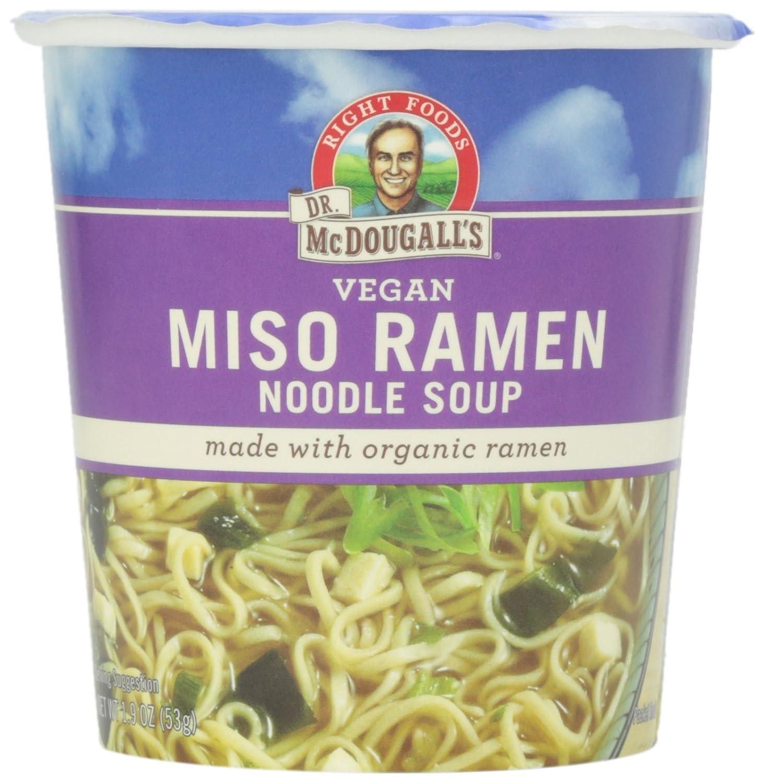 Dr. McDougall's, Vegan Miso Ramen Noodle Soup, 1.9 Ounce