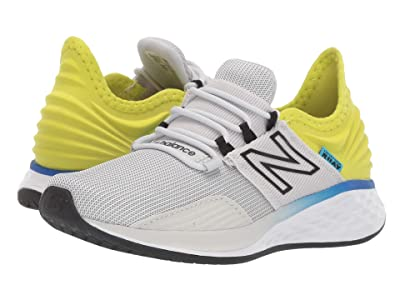 New Balance Kids Fresh Foam Roav Boundaries (Little Kid) (Light Aluminum/Sulphur Yellow) Boys Shoes