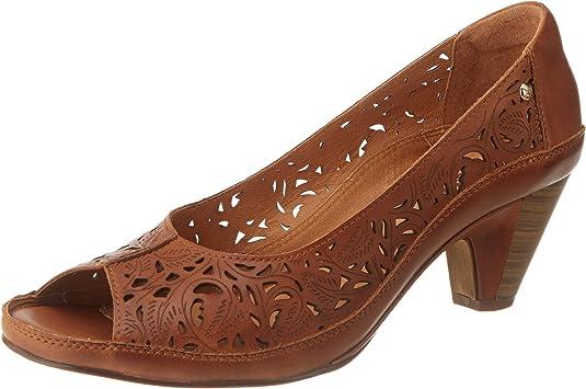 TALLA 35 EU. Pikolinos Java W5a, Zapatos de tacón con Punta Abierta Mujer