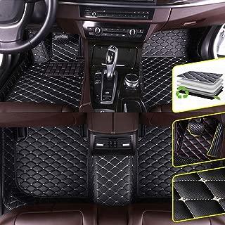 DBL Custom Car Floor Mats for Land Rover 2014-2019 Range Rover Sport 5-Seat Waterproof Non-Slip Leather Carpets Automotive Interior Accessories 1 Set Black & Beige