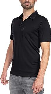 Woolly Clothing Men's Merino Wool Polo Shirt - Ultralight - Wicking Breathable Anti-Odor