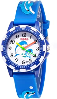 Kidzo Dolphin Buddies Blue Analog Boy's and Girl's Wrist Watch with 3D Strap