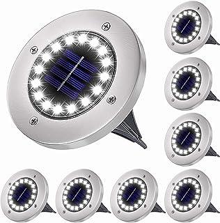 Lampes Solaire Extérieur Jardin, 16LED Lampes Solaires au sol IP65 Etanche Lampe Spots Decorative, pour Pelouse Extérieur/...