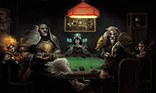 RFG REMOVE FROM GAME Ajani Poker Compatible with Magic The Gathering, Pokemon, Yugioh Playmat 24 x 14 inch