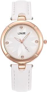 Orologi Da Donna Semplici orologi da donna moda Diamond in pelle orologio al quarzo in pelle per donne eleganti signore or...
