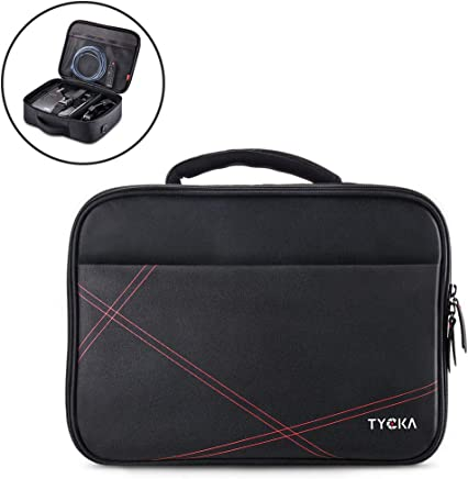 Tycka Estuche para proyector, Bolso de Transporte de Proyector para Viajes 41x31x12cm con Tira para Hombros Ajustable & Divisores de Compartimientos para Acer, Epson, Benq, LG, Sony (Grande)