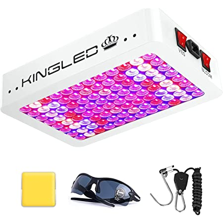 KingLED Newest 1000w LED Grow Lights with LM301B LEDs and 10x Optical Condenser 3x3 ft Coverage Full Spectrum Grow Lights for Indoor Hydroponic Plants Veg Bloom Greenhouse Growing Lamps