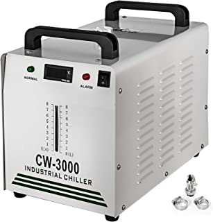 VEVOR Industriële waterkoeler CW-3000AG CO2 laser buiskoeler 9 l waterkoeler 50 W 220 V voor het koelen van CO2-glazen las...