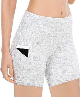 QUEENIEKE Women 6 Inches Inseam Power Flex Mid-Waist 3-Pocket Running Shorts Workout Fitness