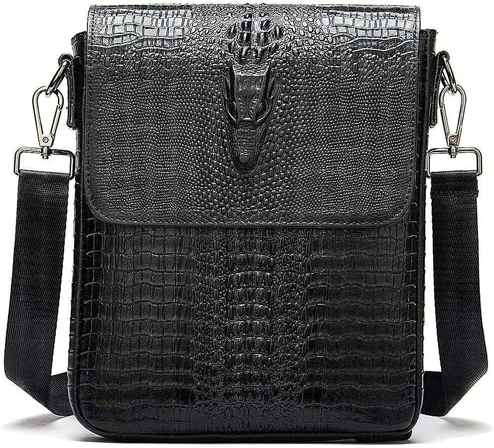 Soldering Men's messenger bag vertical Weekly update crocodile b shoulder business print