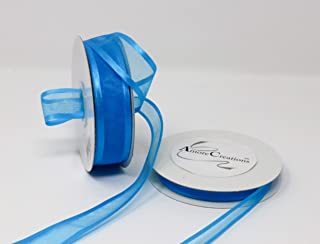 Homeford FCR000SES0308316 Satin-Edge Sheer Organza Ribbon Turquoise 3//8-Inch