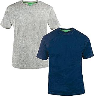 Mens Duke D555 Big Tall King Size Fenton 2 Pack T Shirt Cotton Top Casual Tee