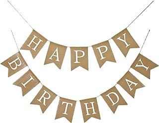 Best happy birthday burlap banner Reviews