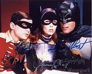Batman TV Series Cast Adam West & Burt Ward & Yvonne Craig Signed Autographed 8x10 Inch Photo Print
