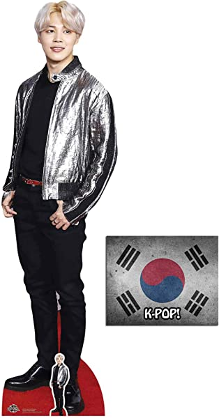 Jimin Bangtan Boys Lifesize And Mini Cardboard Cutout Fan Pack 174cm X 48cm Includes 8x10 Star Photo