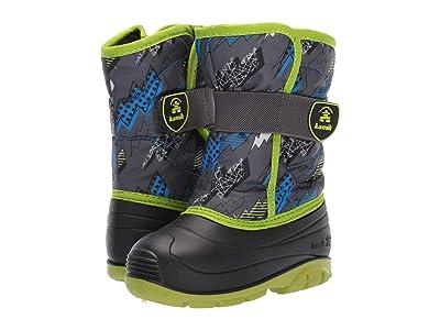 Kamik Kids Snowbug 4 (Toddler) (Charcoal/Lime) Boys Shoes