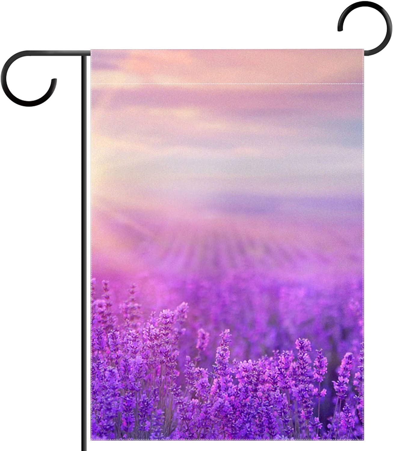 huiyueqiche Violet Lavender Field Garden Flag Inch x 12 OFFicial store Ranking TOP17 Doubl 18