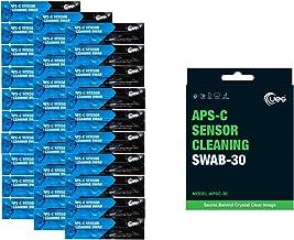 UES APSC-30 DSLR or SLR Digital Camera Sensor Cleaning Swabs for APS-C Type Sensors (30 X 16mm Swabs)