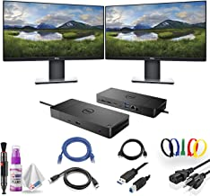 "$619 » Dual Dell P2419H 23.8"" 16:9 Ultrathin Bezel IPS Monitor with Dell WD19 180W Docking Station (130W Power Delivery) USB-C, H..."