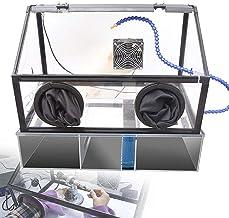 Sierra de mesa portátil de sobremesa, Máquina de pulido eléctrico a prueba de polvo a prueba de polvo Caja a prueba de polvo, con luz LED, ventilador, Piscina de circulación de agua 5 mm Funda acrílic
