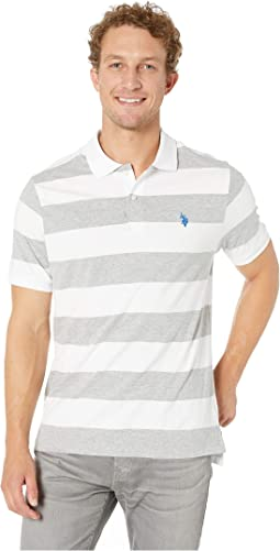 Jersey Stripe Polo Shirt