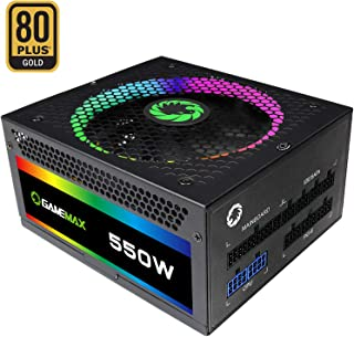 Game Max RGB-550 - Fuente de alimentación, Color Negro