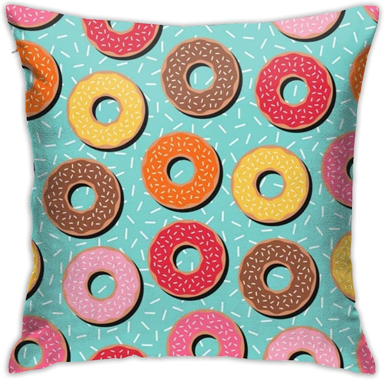 Colorful Donuts 18 X Inches Limited Special Price Cute Design Pillows Bed and New product type Couch