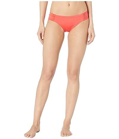 Trina Turk Getaway Solids Shirred Side Hipster Bottoms (Poppy) Women
