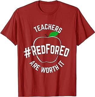 Teacher Support Red for Ed T Shirt