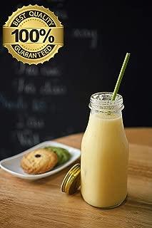 100% Natural Organic Eco Friendly Disposable Drinking Grass Straws - Pack of 100 Organic Veggie Straws Sea Salt