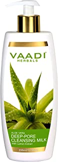 Vaadi Herbals Aloevera Deep Pore Cleansing Milk with Lemon Extract, 350 ml