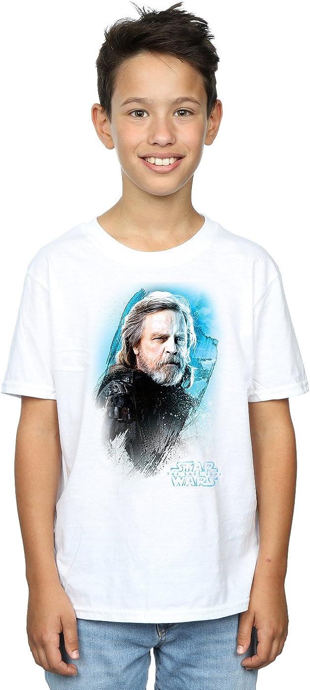 STAR WARS Boys The Last Jedi Luke Skywalker Brushed T-Shirt 7-8 Years White