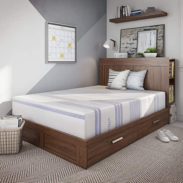 Vibe 12 Inch Gel Memory Foam Mattress Bed In A Box Mattress Only Twin XL