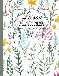 "Lesson Planner: Plan and execute organized lessons with this planner; 120 outlined pages; 8.5""x11""; school; homeschool; ch..."