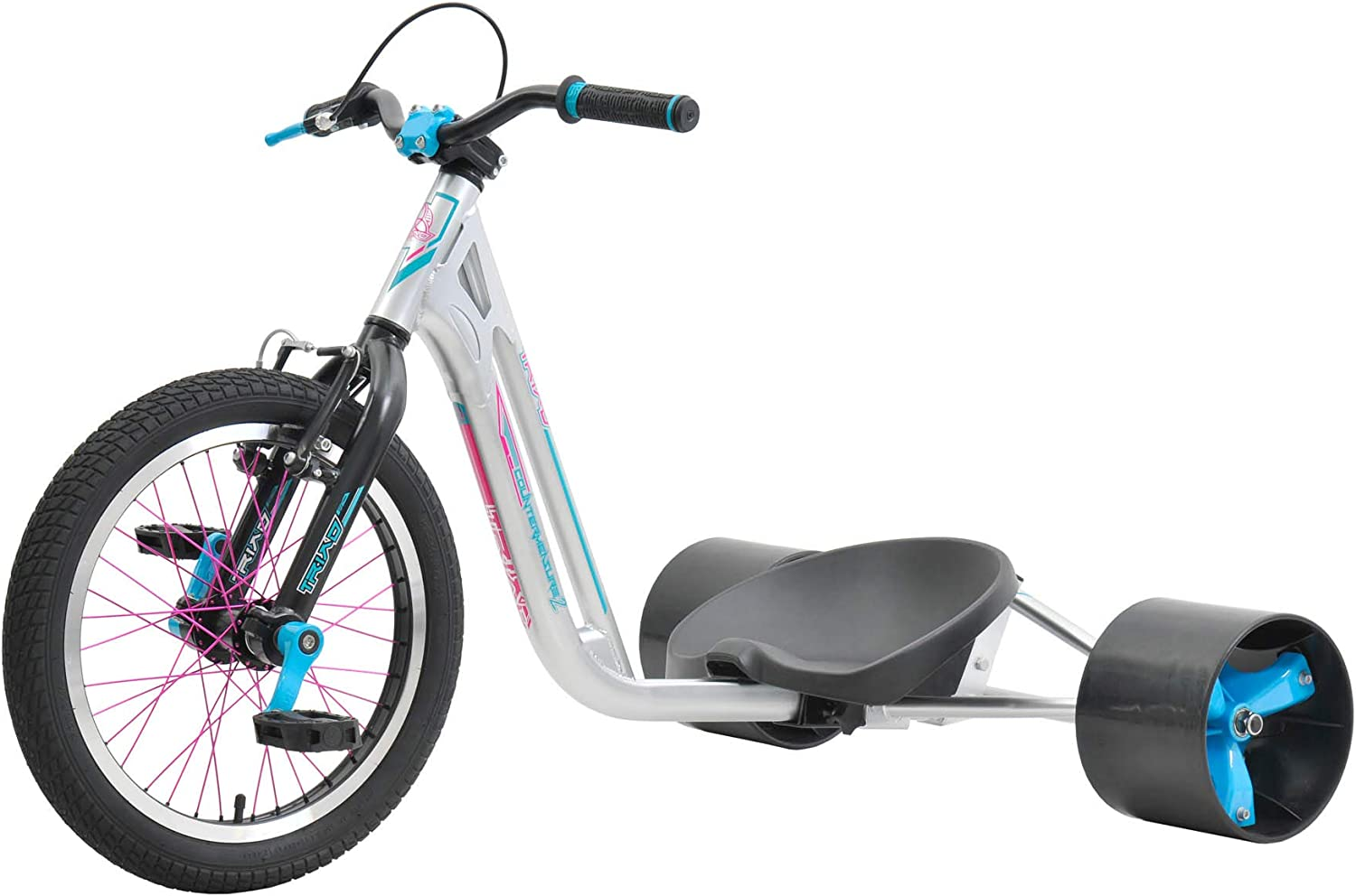 FireCloud Cycles TRIAD 18  Pro DRIFT TRIKE  Counter Measure 3 in SILVER & TEAL New