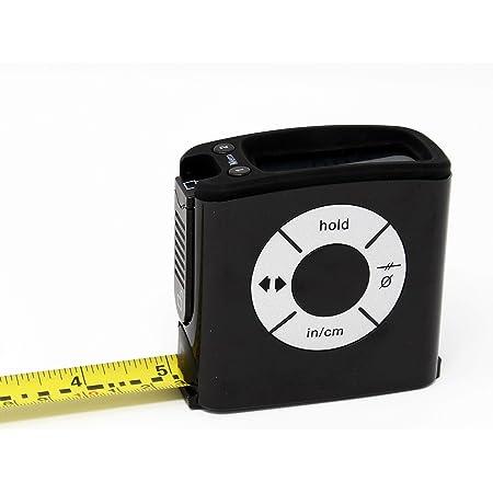 Hiss デジタル テープ測定値の表示 大型LCDディスプレー巻尺 5 m ブラック
