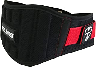 Steel Sweat Weight Lifting Belt - Nylon 6-inch Firm & Comfortable Back Support, Best for Workouts at The Gym, Weightlifting or Crossfit. Easily Adjustable