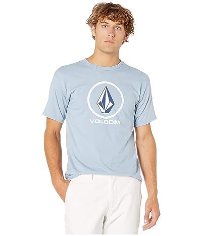 Volcom Crisp Stone Short Sleeve Tee (Flight Blue) Men