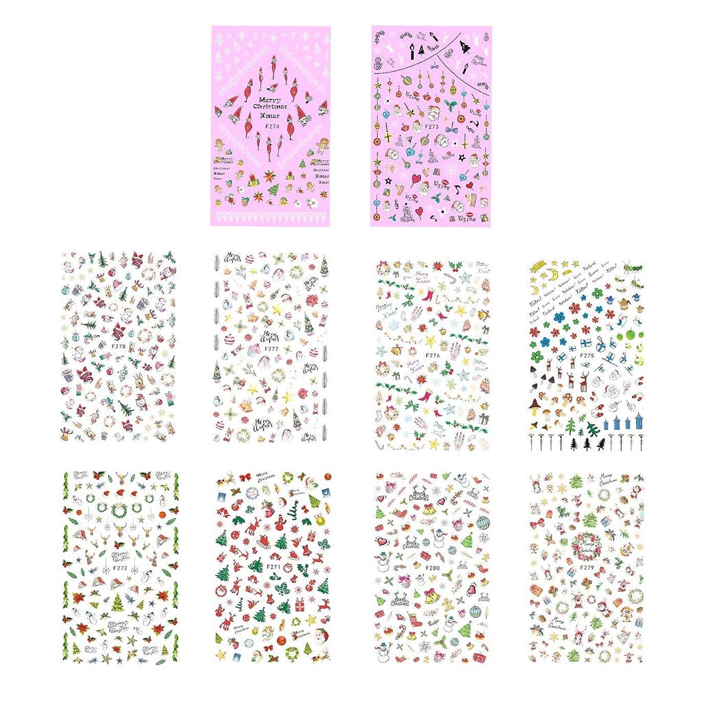 証言アレルギー性なぞらえるB Blesiya 10枚 ネイルアートステッカー ネイルデカール DIY マニキュア