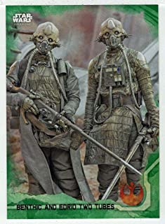 Benthic and Edrio Two Tubes - Rogue One: A Star Wars Story Series 1 (Trading Card) GREEN # 18 - Topps 2016 Mint