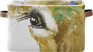 Organisateur De Rangement Rectangulaire Art Boîte D'organisateur De Fleurs De Vache Animal Coloré Mignon avec Poignée en C...