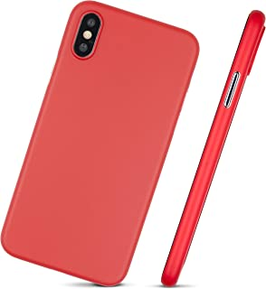 Ultra Thin iPhone Xs Max Case - Super Thin, Minimalist Design - for Apple iPhone Xs Max (2018) by MobiTek (Red)
