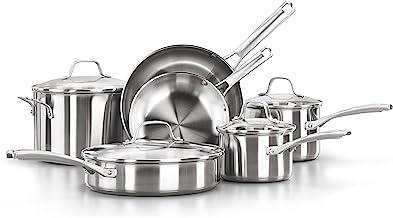 Calphalon 2095338 Classic Stainless Steel Cookware Set, 10-Piece Silver