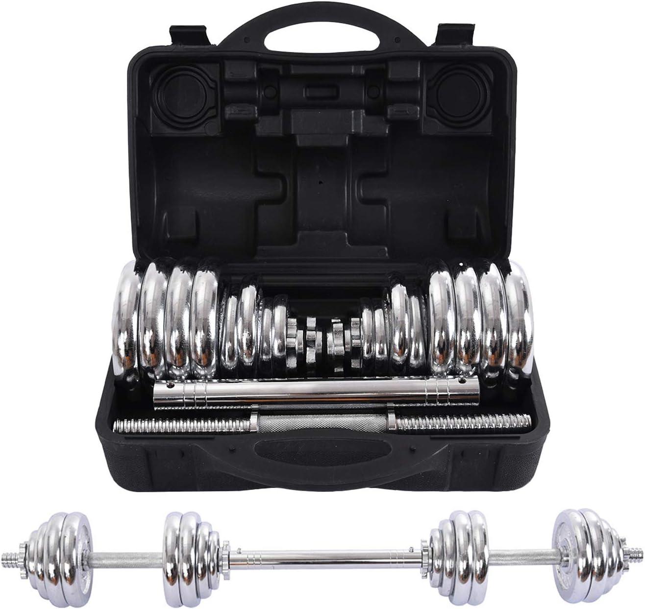 ◆セール特価品◆ HTNBO Dumbbells Set of おしゃれ 2 66 Free Fitness Lbs Adjustable Weights