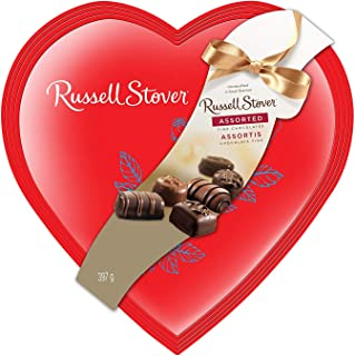 Russell Stover Red Foil Heart Assorted Chocolates, 14 Ounce Box