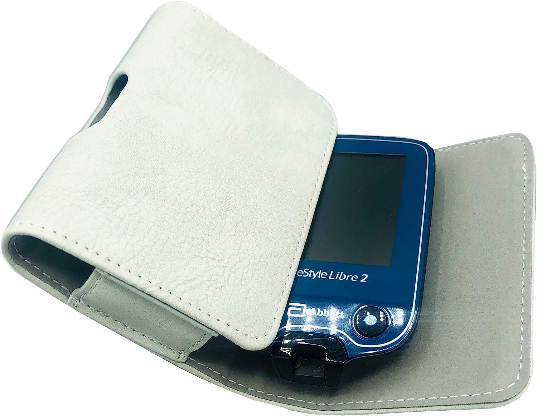 SEWAS Diabetic Care, Funda para medidores Freestyle Libre 1 y 2, funda para cinturón de glucosa en sangre, funda protectora gris claro