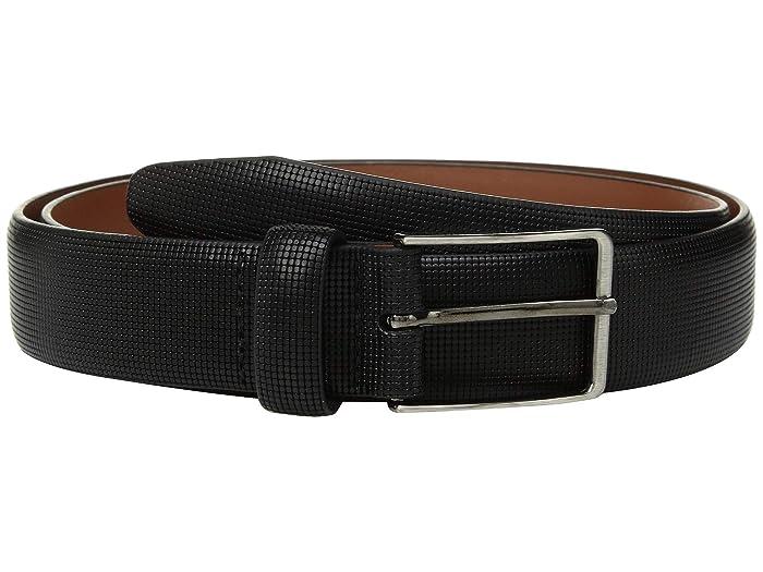 Johnston & Murphy Mini Embossed Belt (Black) Men